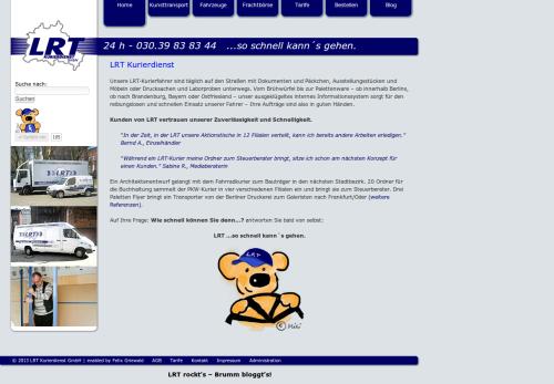 LRT Kurierdienst GmbH Webseite