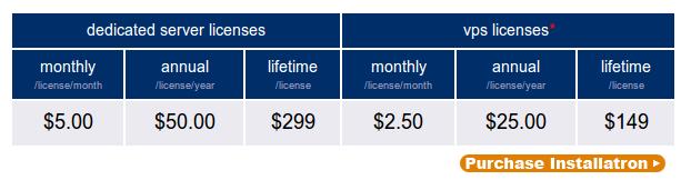 Installatron Kosten
